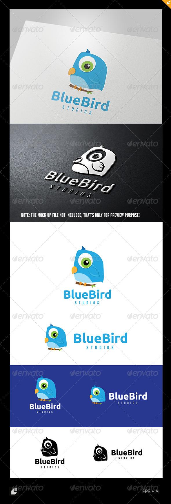 Blue Bird Logo - Animals Logo Templates
