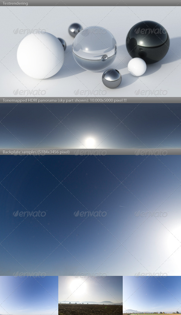 HDRI spherical sky panorama -0948- sun sky - 3DOcean Item for Sale