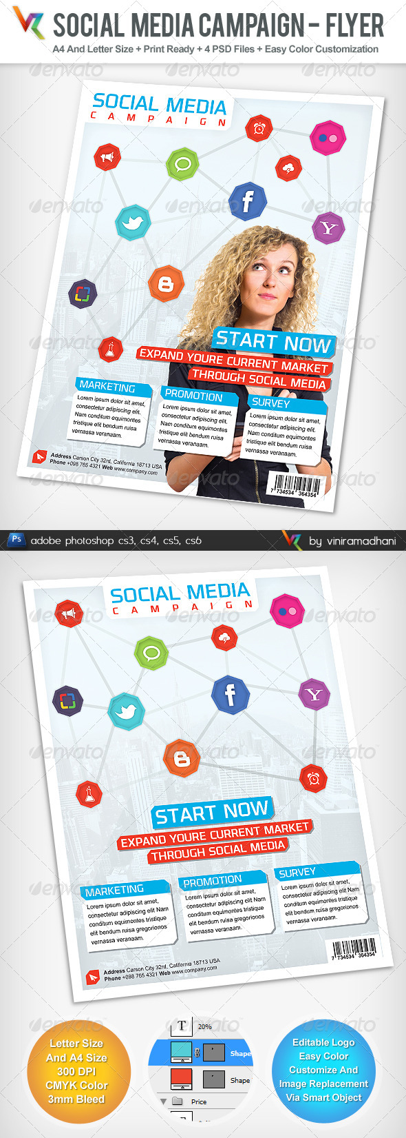 Social Media Campaign Advertising Flyer - Corporate Flyers