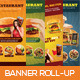 Premium Restaurant Banner Roll-up - GraphicRiver Item for Sale