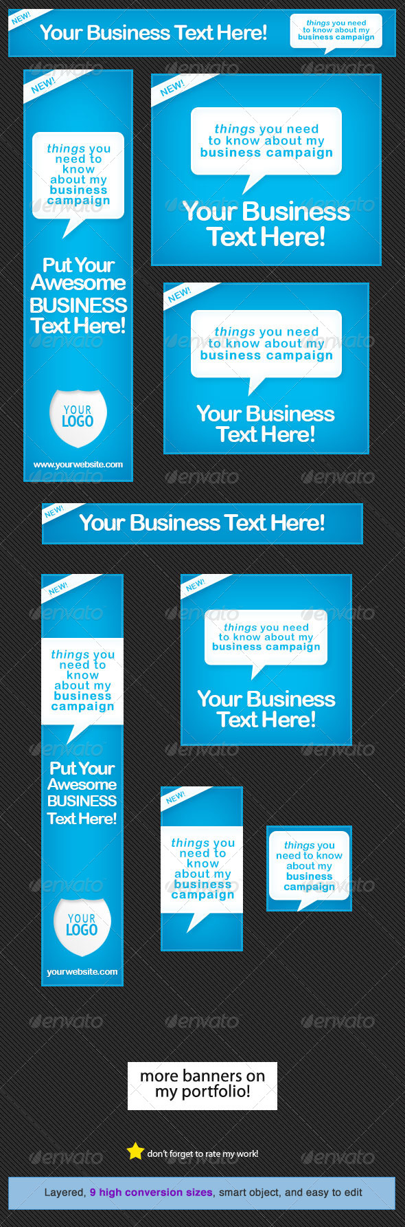 Neat Blue Web Banner Design - Banners & Ads Web Elements
