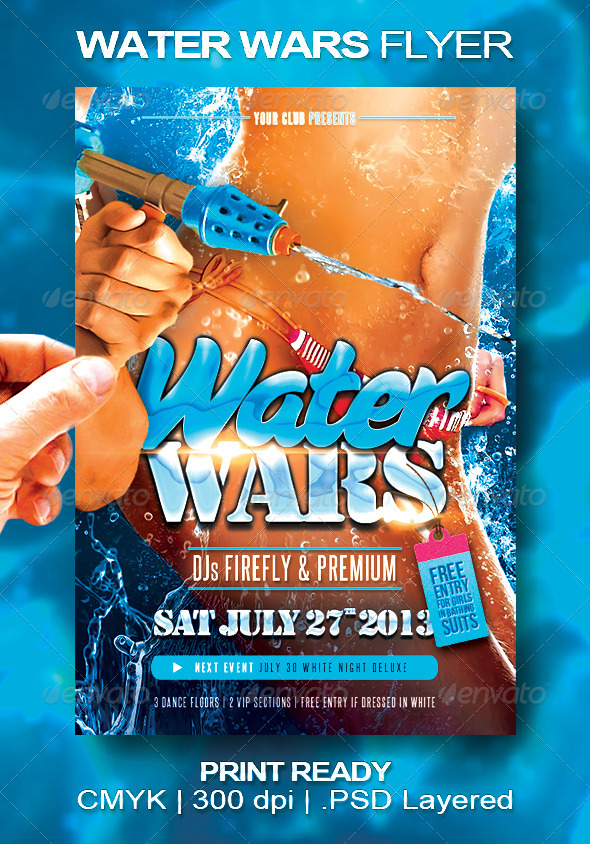 Water Wars Flyer - Events Flyers