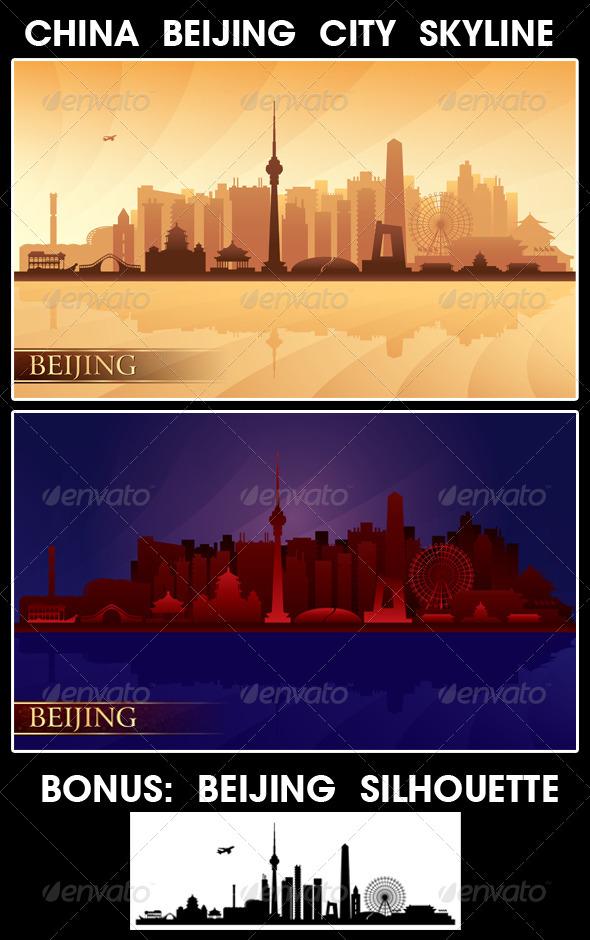 Beijing City Skyline      - Buildings Objects