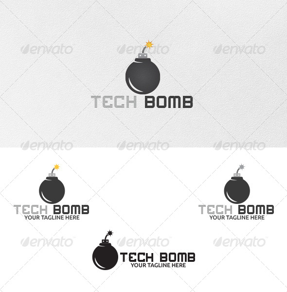 Tech Bomb - Logo Template - Objects Logo Templates