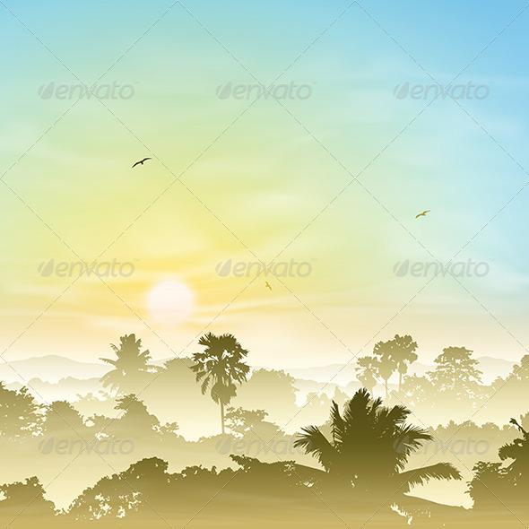 Misty Landscape - Landscapes Nature