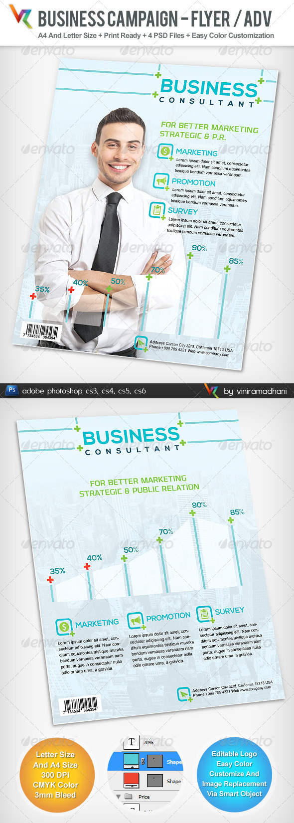 Business Campaign Advertising Flyer - Corporate Flyers