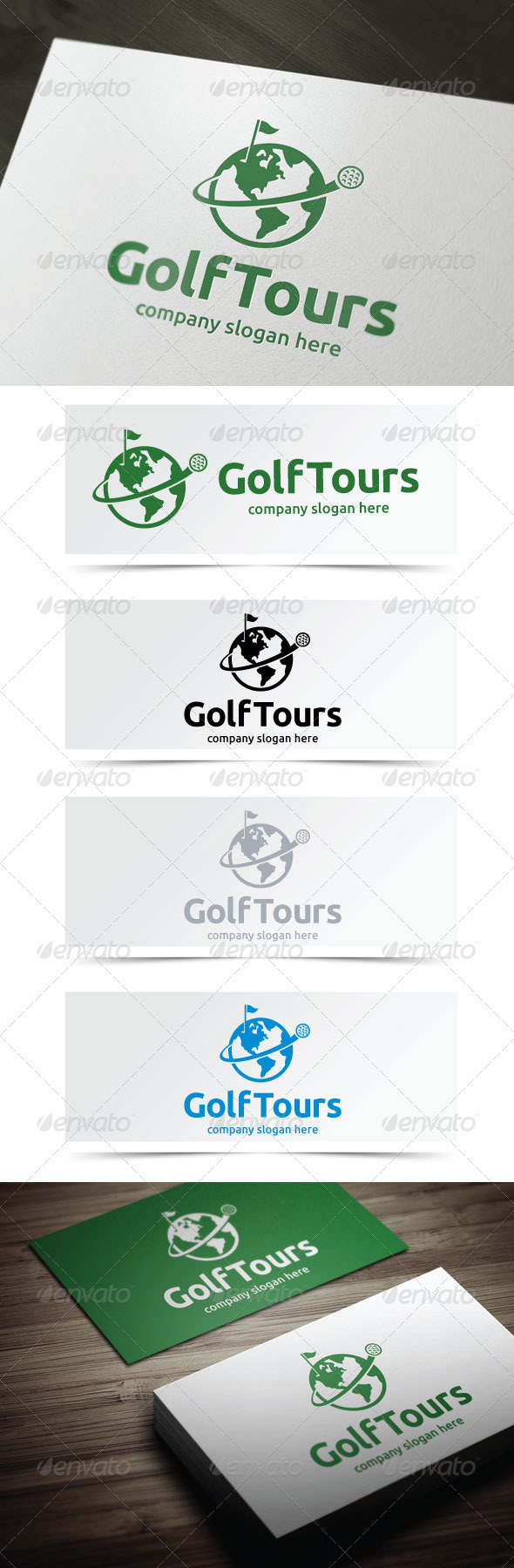 Golf Tours - Objects Logo Templates