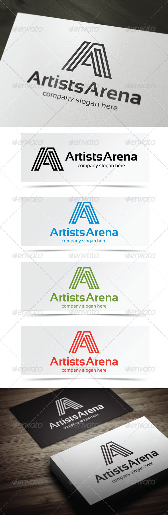 Artists Arena - Letters Logo Templates