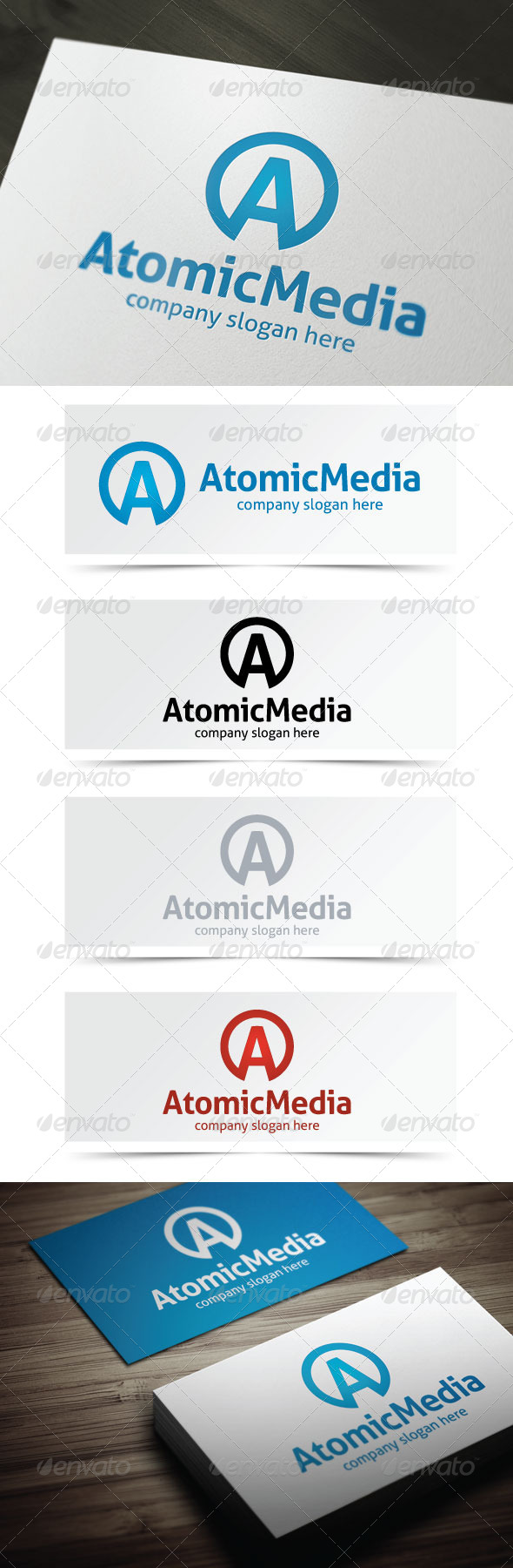 Atomic Media - Letters Logo Templates