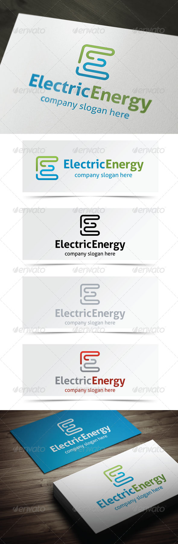Electric Energy - Letters Logo Templates