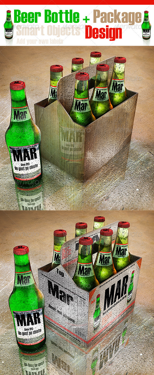 Beer Bottle and Package Design - Food and Drink Packaging