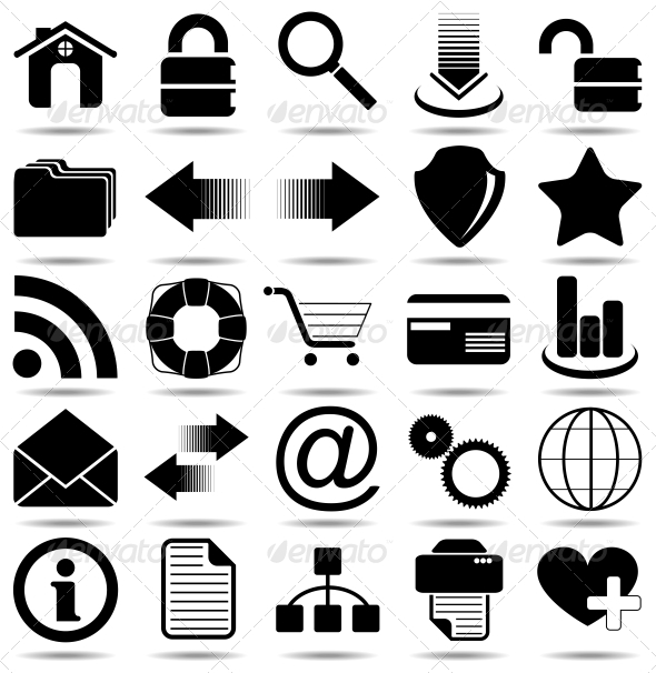 Black Web Icons - Web Elements Vectors