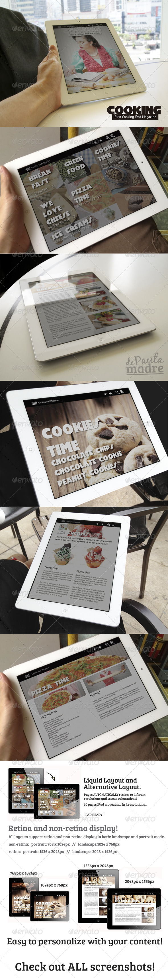 Cooking iPad Magazine in 4 resolutions - Digital Magazines ePublishing