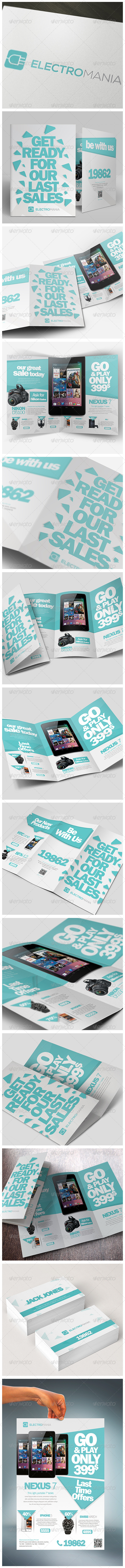 Brochures Pack A4 + Trifold + Flyer + Card - Stationery Print Templates