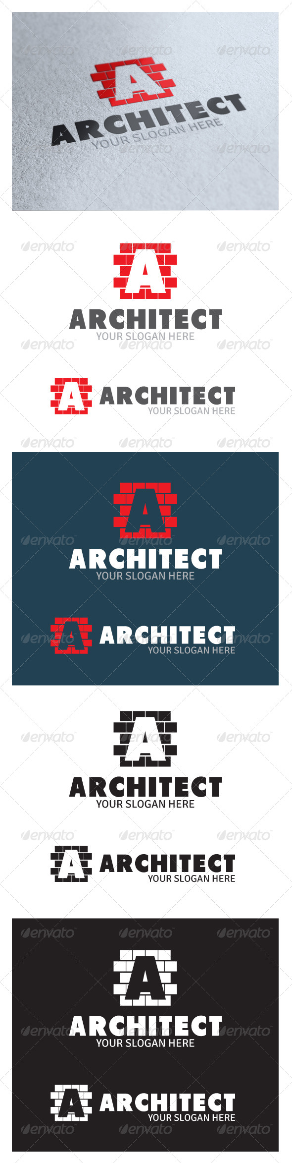 Architect Logo - Letters Logo Templates