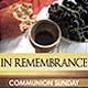 """In Remembrance"" Church/Communion Service - GraphicRiver Item for Sale"