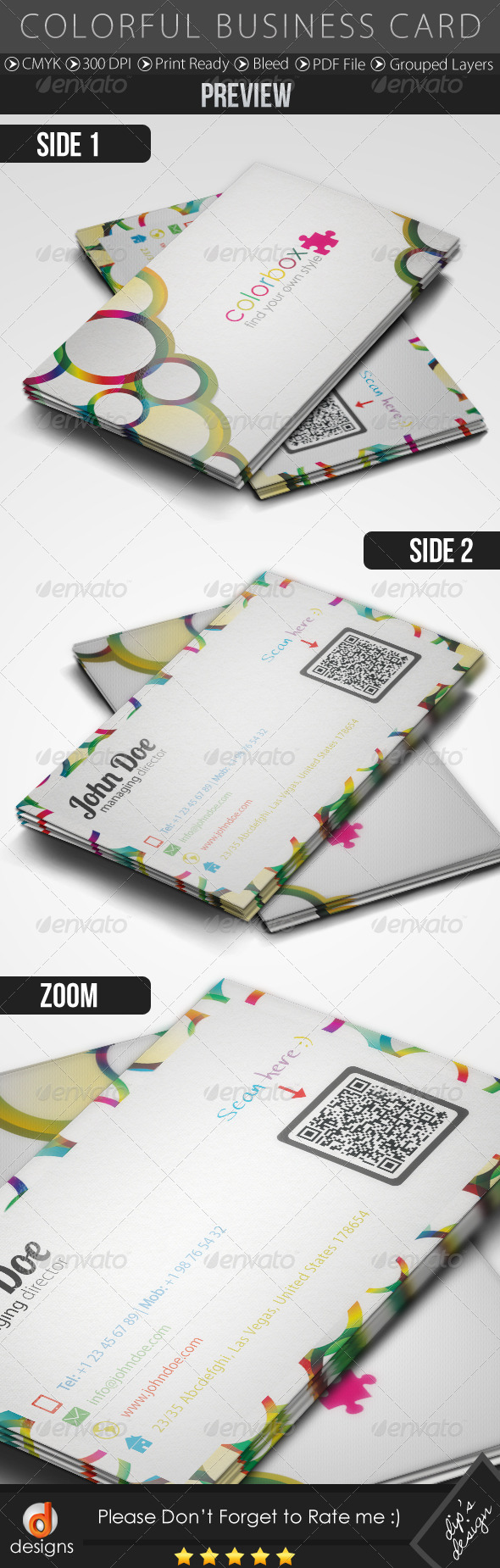 Colorful Business Card - Corporate Business Cards