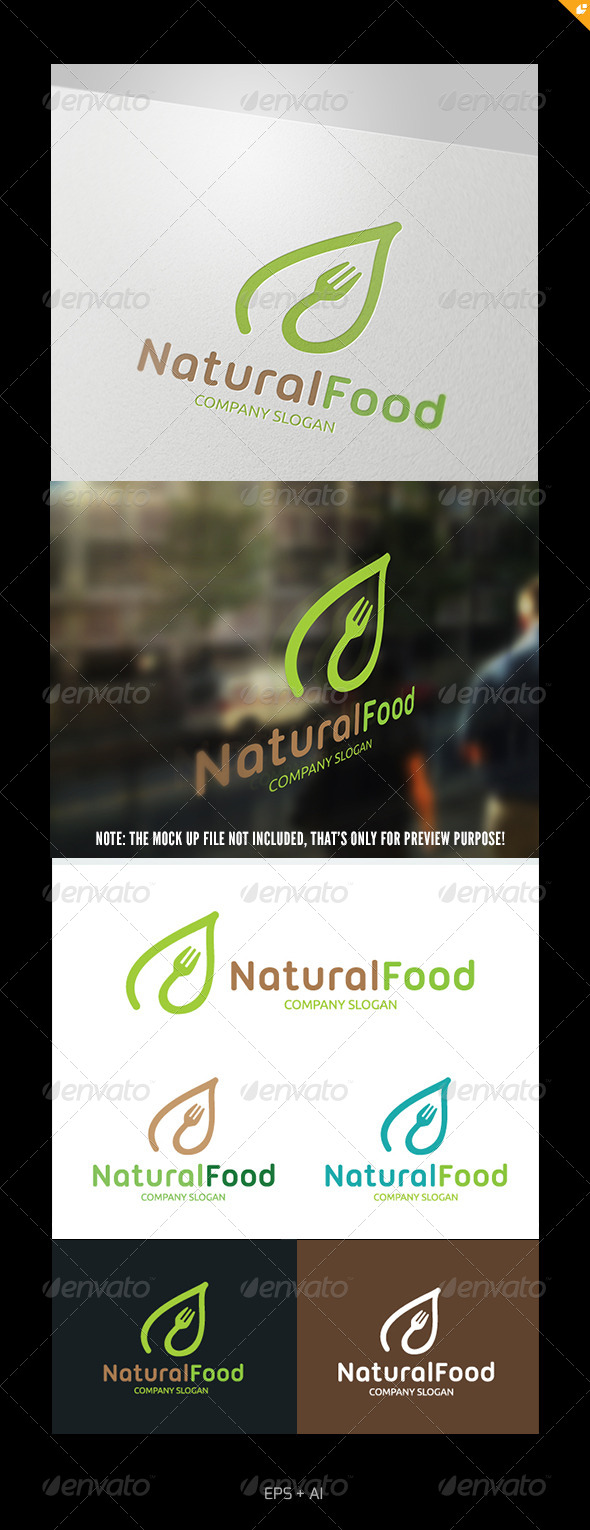 Natural Food Logo - Food Logo Templates