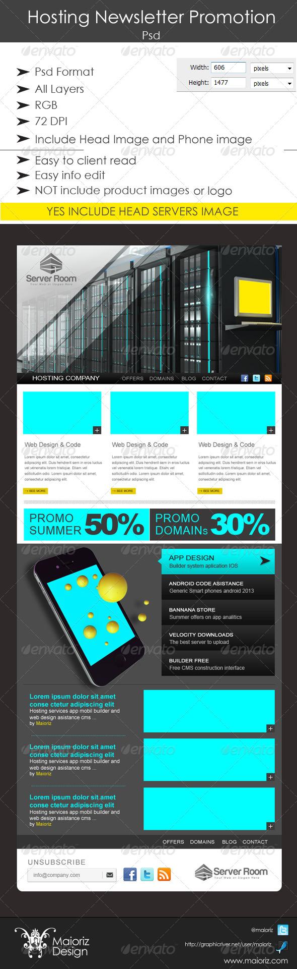 Hosting Newsletter Promotion - E-newsletters Web Elements