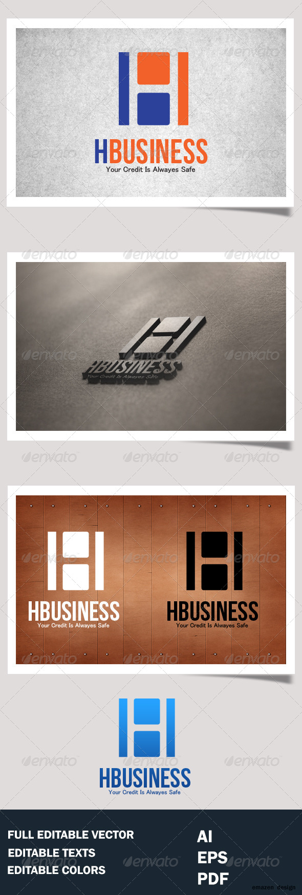 H Business H letter Logo Template - Letters Logo Templates