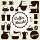 Coffee Set Vector Icon Collection - GraphicRiver Item for Sale