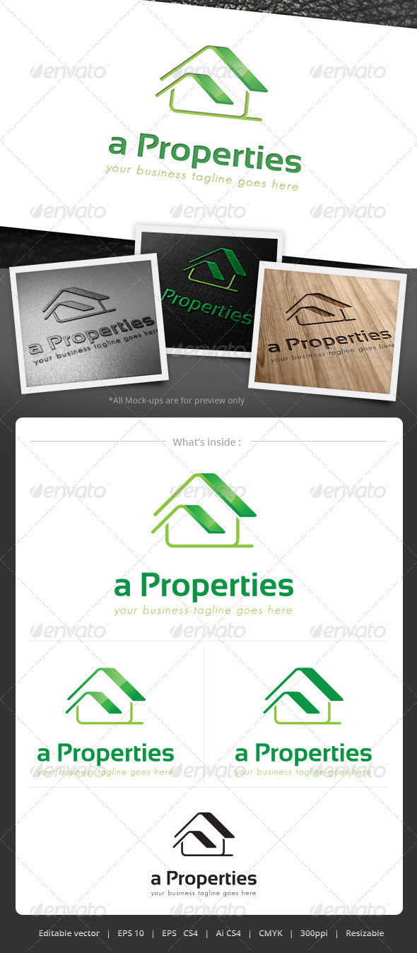 a Properties Logo - Buildings Logo Templates