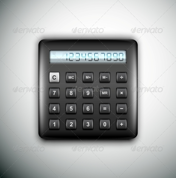 Black Calculator - Man-made Objects Objects