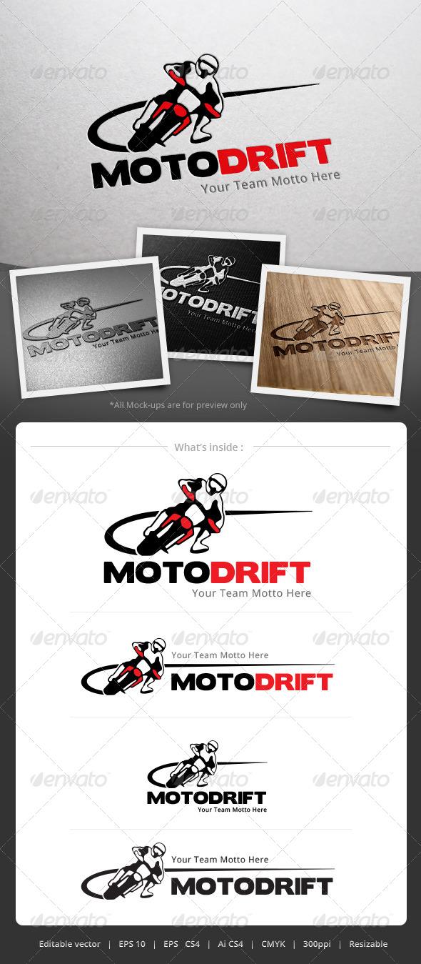 Moto Drift Logo - Objects Logo Templates