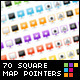 Set of 70 Glossy Square Web 2.0 Map Pointers - GraphicRiver Item for Sale