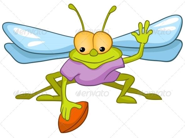 Cartoon Character Fly - Animals Characters