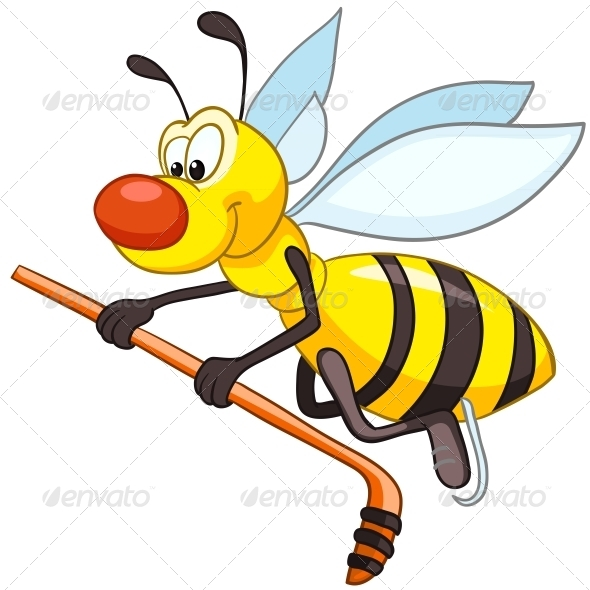 Cartoon Character Bee - Animals Characters