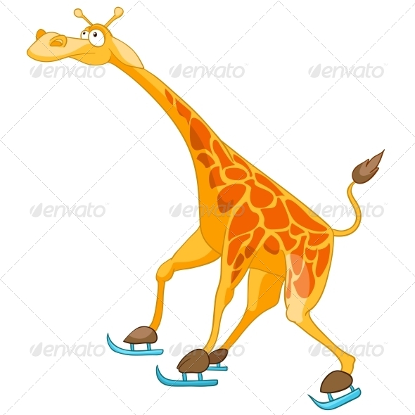 Cartoon Character Giraffe - Animals Characters