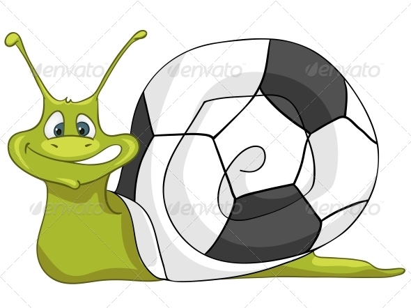 Cartoon Character Snail - Animals Characters