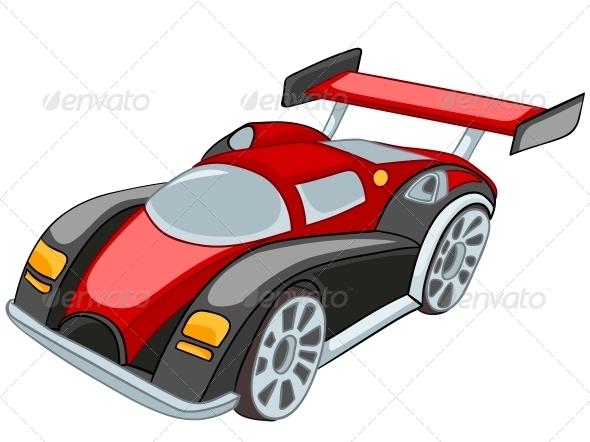 Cartoon Car - Travel Conceptual