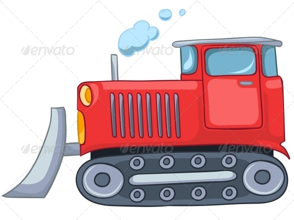 Cartoon Tractor - Travel Conceptual