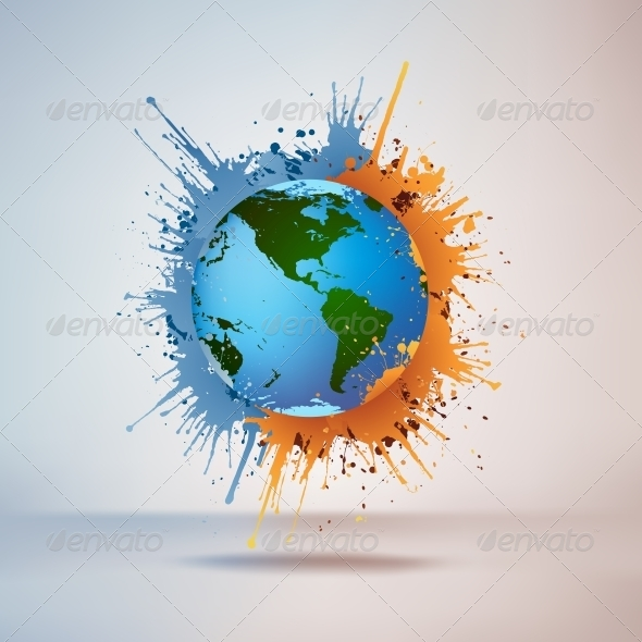 Globe in Paint - Miscellaneous Conceptual
