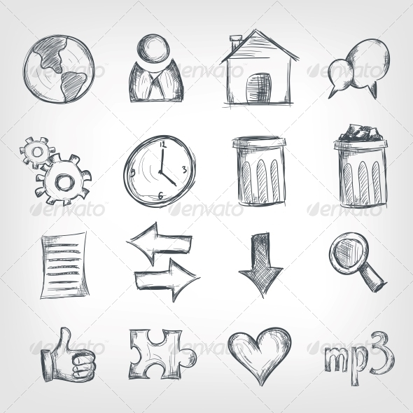 Sketch Icon Set - Miscellaneous Conceptual