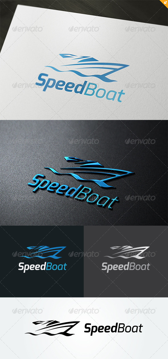Speed Boat Logo - Objects Logo Templates