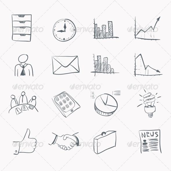 Sticker Icon Set - Web Elements Vectors
