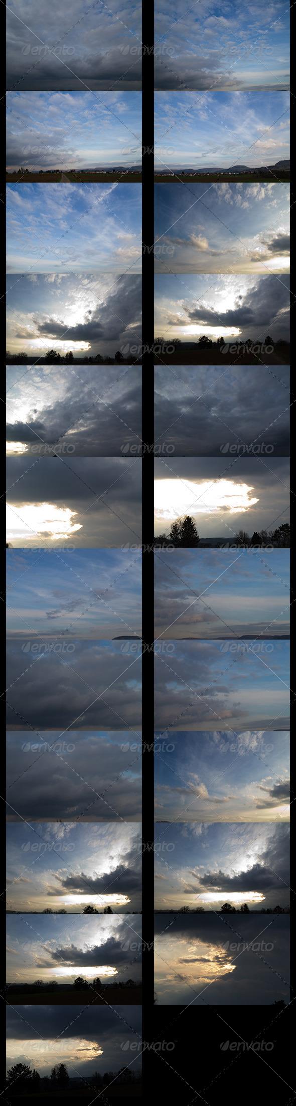 HDRI spherical sky panorama -1901- spring evening