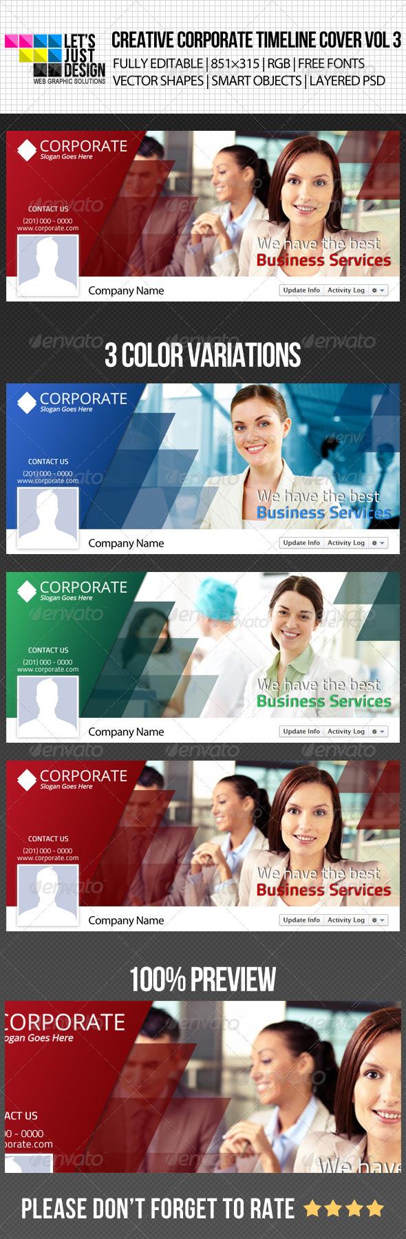 Creative Corporate Facebook Timeline Cover Vol 3 - Facebook Timeline Covers Social Media