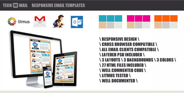 TechMail – Responsive Email Template
