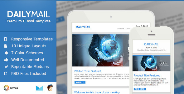 Daily Mail – Clean & Responsive Email Template