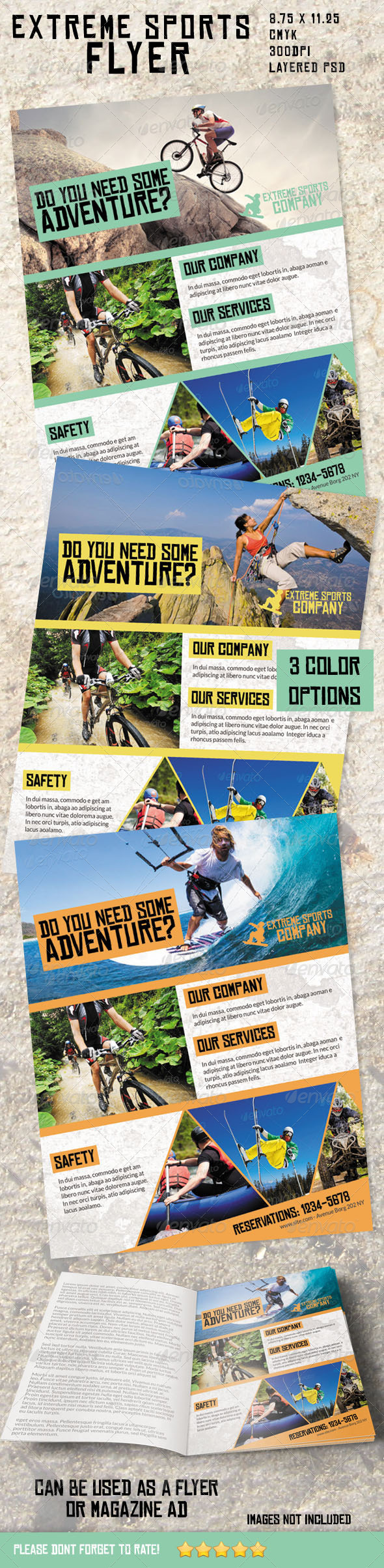 Extreme Sports Flyer/ Magazine Ad - Sports Events