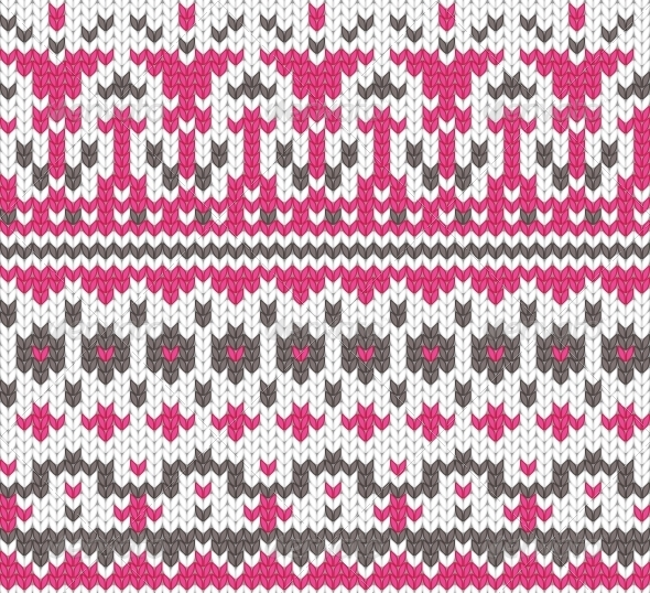 Seamless Knitted Background - Backgrounds Decorative