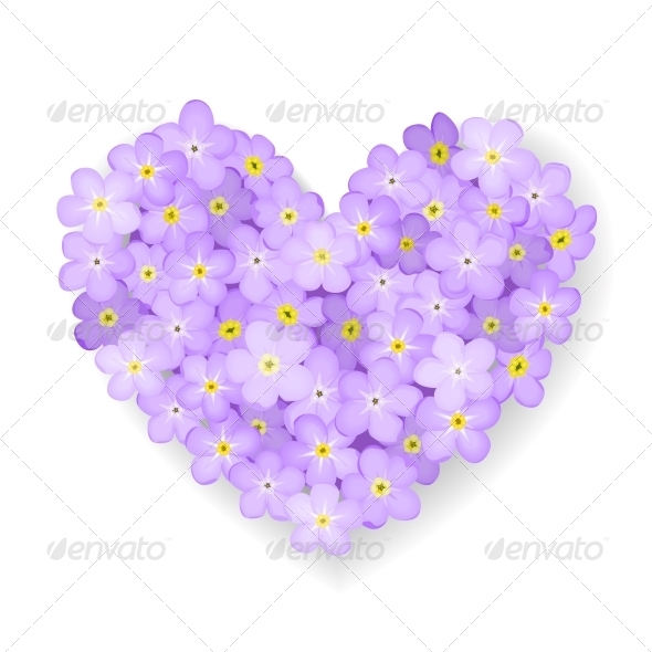 Vector Floral Heart - Flowers & Plants Nature