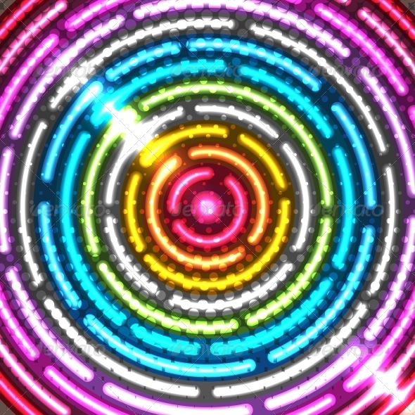 Neon Abstract Background - Backgrounds Decorative