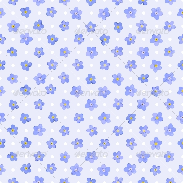 Seamless Floral Pattern. - Flourishes / Swirls Decorative