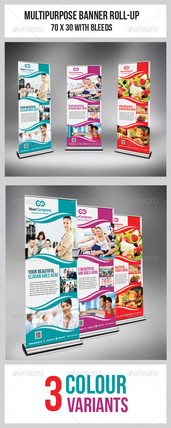 Multipurpose Business Roll-Up - Signage Print Templates