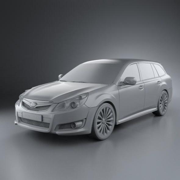 Subaru Legacy Tourer 2010 By Humster3d 3docean